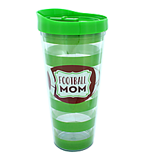Football Mom 22oz Double Wall Tumbler with Straw #F138786