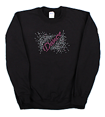 "Dazzling ""Dance"" Heavy-weight Crew Sweatshirt 8.5"" X 5.5"" Design 13893 *Choose Your Shirt Color"