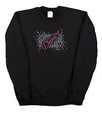 """Dazzling """"Dance"""" Heavy-weight Crew Sweatshirt 8.5"""" X 5.5"""" Design 13893 *Choose Your Shirt Color"""