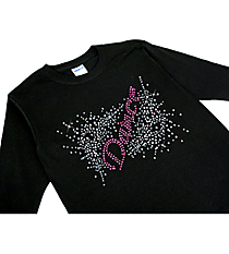 "Dazzling ""Dance"" Youth Long Sleeve Relaxed T-Shirt 8.5"" X 5.5"" Design 13893 * Choose Your Shirt Color"