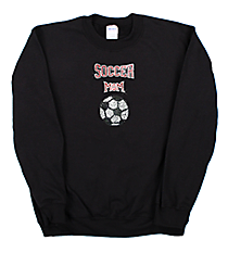 "Dazzling ""Soccer Mom"" Heavy-weight Crew Sweatshirt 6"" X 9"" Design 13987 *Choose Your Shirt Color"