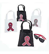1 Pink Ribbon Mini Tote Bag #14/1744