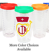 Nurse Monogram Clear 14 oz. Double Wall Tumbler with Lid #WA334021-CL *Choose Your Lid and Vinyl Colors