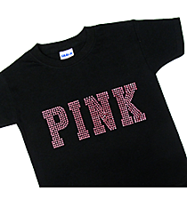 "Dazzling ""PINK"" Youth Short Sleeve Relaxed Fit T-Shirt 10"" x 4"" Design 14004 *Choose Your Shirt Color"