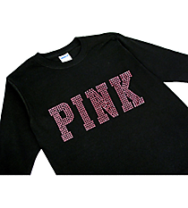 "Dazzling ""PINK"" Youth Long Sleeve Relaxed T-Shirt 10"" x 4"" Design 14004 *Choose Your Shirt Color"
