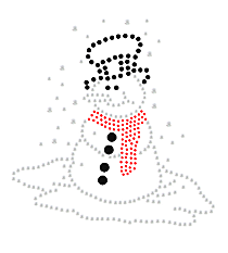 "Sparkling ""Snowman"" 5"" X 5"" Rhinestone Applique Iron-On"