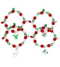 One Christmas Charm Stretch Bracelet #14709-SHIPS ASSORTED