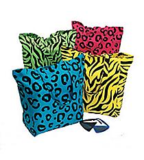 6 Neon Animal Print Tote Bags #14/802