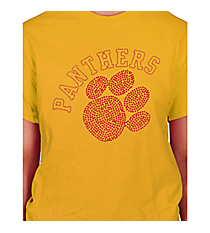 Red Paw and Team Name Short Sleeve Relaxed Fit T-Shirt 14899 *Choose Your Team Name!