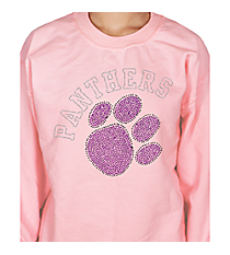 Purple Paw and Team Name Heavy-weight Crew Sweatshirt 14900 *Choose Your Team Name!