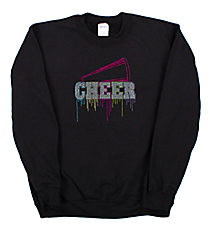 "Glittering ""Liquid Cheer"" Heavy-weight Crew Sweatshirt 9.25"" x 9.25"" Design 14968 *Choose Your Shirt Color"