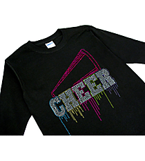 "Glittering ""Liquid Cheer"" Youth Long Sleeve Relaxed T-Shirt 9.25"" x 9.5"" Design 14968 *Choose Your Shirt Color"