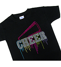"Glittering ""Liquid Cheer"" Youth Short Sleeve Relaxed Fit T-Shirt 9.5"" x 9.5"" Design 14968 *Choose Your Shirt Color"