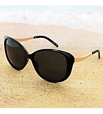 One Pair Black and Gold Retro Sunglasses #14F308