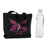 Pink Ribbon Bible Tote #14/1740