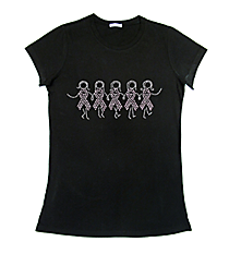 "Sparkling Ribbon Girls Ladies Short Sleeve Fitted T-Shirt 8"" X 3.25"" Design 15295 *Choose Your Shirt Color"