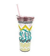 Chevron Party 22oz Double Wall Tumbler with Straw #F155622