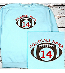 Football Supporter Comfort Colors Adult Crew-Neck Sweatshirt #1566 *Personalize Your Name and Colors