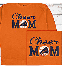 Cheer Mom Comfort Colors Adult Crew-Neck Sweatshirt #1566 *Personalize Name and Colors