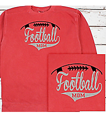 Football Mom Comfort Colors Adult Crew-Neck Sweatshirt #1566 *Personalize Your Text and Colors