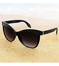One Pair Cobblestone Textured Black Sunglasses #15F124