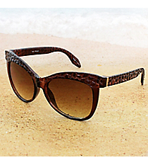 One Pair Cobblestone Textured Brown Sunglasses #15F124