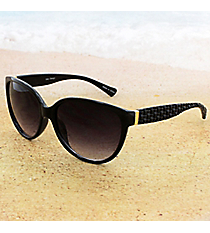 One Pair Black Sunglasses with Textured Arms #15F130