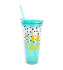 Woohoo! 22 oz. Double Wall Tumbler with Straw #F161254