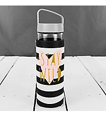 Stay Wild 20oz. Glass Water Bottle with Sleeve #F161352