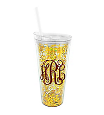 Glitter and Glamour 22 oz. Double Wall Tumbler with Straw #F161520