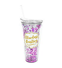 'Flawless Darling' 22oz. Double Wall Tumbler with Straw #F161522