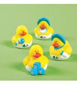Two Dozen Mini Baby Boy Rubber Duckies #16/986