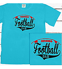 Football Dad Comfort Colors Adult Ring-Spun Cotton Tee #1717 *Personalize Your Text and Colors