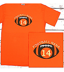 Football Supporter Comfort Colors Adult Ring-Spun Cotton Tee #1717 *Personalize Your Name and Colors