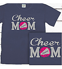 Cheer Mom Comfort Colors Adult Ring-Spun Cotton Tee #1717 *Personalize Name and Colors