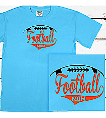 Football Mom Comfort Colors Adult Ring-Spun Cotton Tee #1717 *Personalize Your Text and Colors