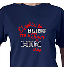 """Bleachers & Bling"" Comfort Colors Adult Ring-Spun Cotton Tee #1717 *Personalize Your Team Name and Colors"
