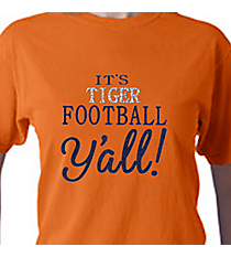 It's Football Y'all Comfort Colors Adult Ring-Spun Cotton Tee #1717 *Personalize Your Team Name and Colors