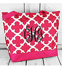 Market Shopping Tote in Dark Pink Moroccan #18-11-P