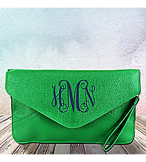 Green Envelope Clutch Bag #SW180835