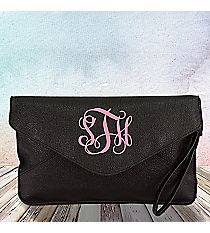 Black Envelope Clutch Bag #SW180836