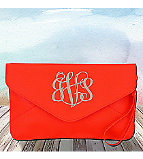 Dark Orange Envelope Clutch Bag #SW180837