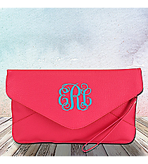 Hot Pink Envelope Clutch Bag #SW181081