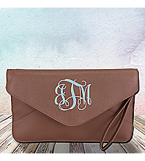 Taupe Envelope Clutch Bag #SW181082