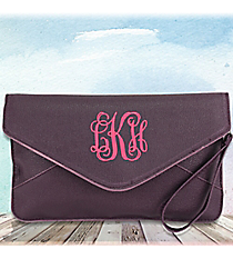 Plum Envelope Clutch Bag #SW181085