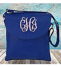 Royal Blue Leather Crossbody Bag #SW181341