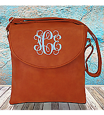 Rust Leather Crossbody Bag #SW181343