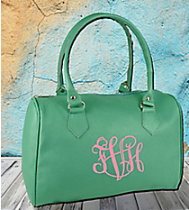 Mint Leather Barrel Satchel #SW181359