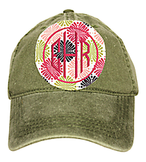 Washed Olive Green Baseball Cap #18-202-021