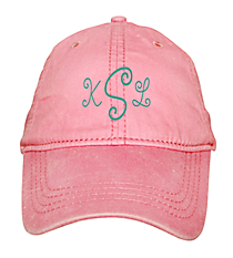 Washed Pink Baseball Cap #18-202-050